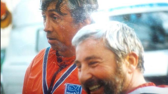 «Luis» Minvielle ( à gauche) aux côtés de Jean Espagnac   © Gérard Bringuier © Gérard Bringuier