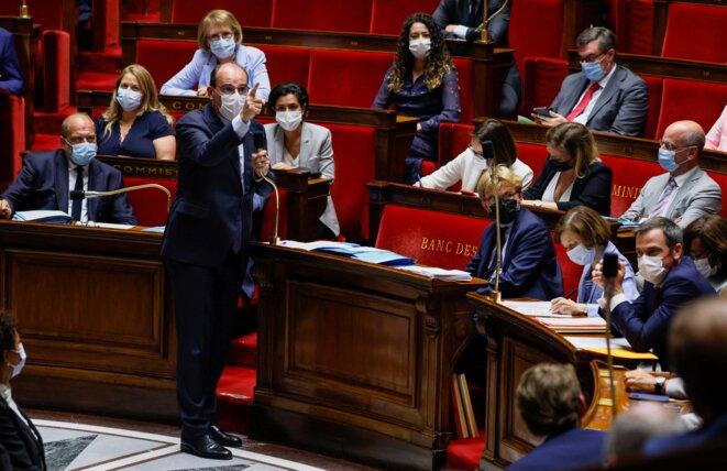 Jean Castex devant les députés, le 20 juillet 2020. © Thomas SAMSON / AFP