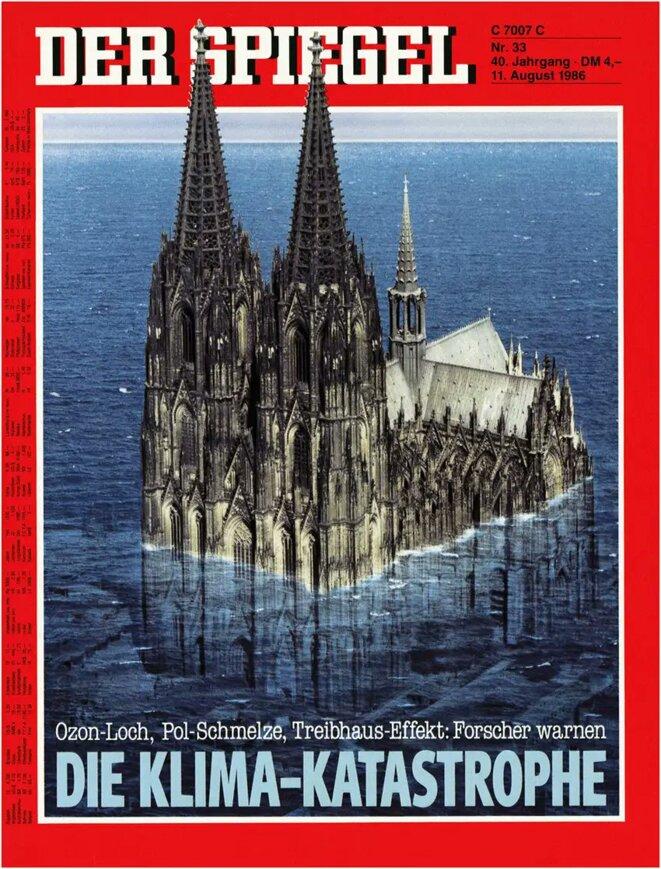 Une de Der Spiegel du 11 août 1986 : la catastrophe climatique.