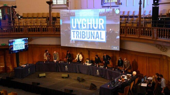 Le tribunal indépendant ouïghour se tient à Church House à Londres. Photo: AP