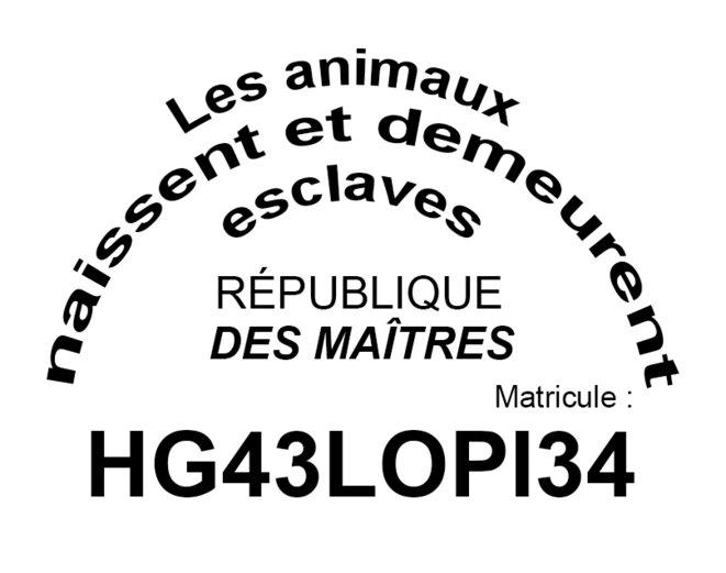 Proposition pour un nouveau marquage des animaux © trstndbrtl