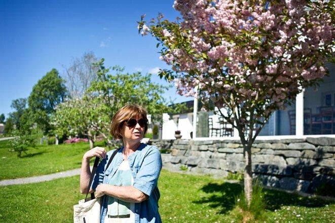 Ann Désirée Brekke, soignante et déléguée syndicale à l'Ehpad d'Austevoll (Norvège). © IE