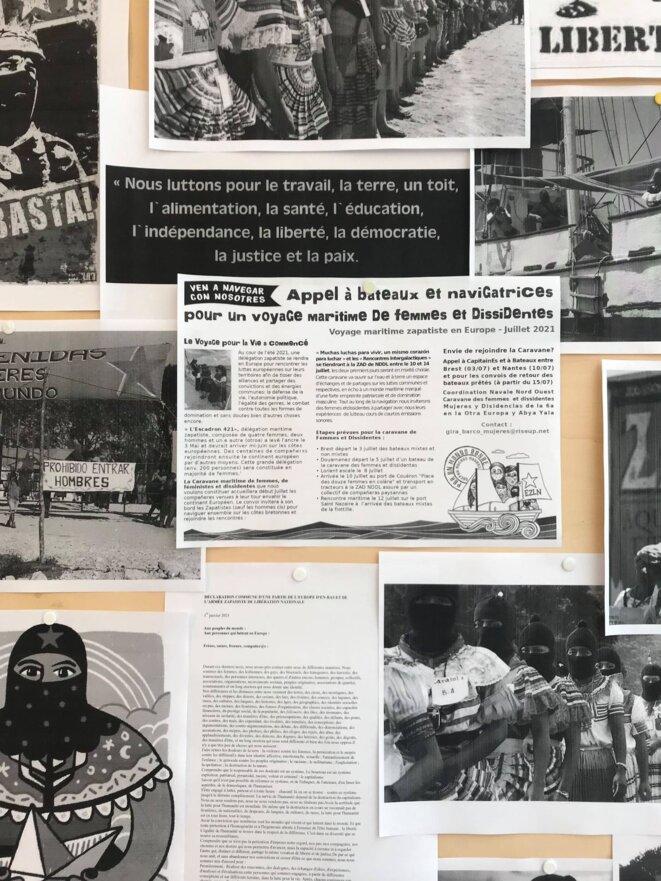 Vue de l'exposition La grande invasion Les zapatistes en Europe – le virus de la résistance et de la rébellion © Salle principale