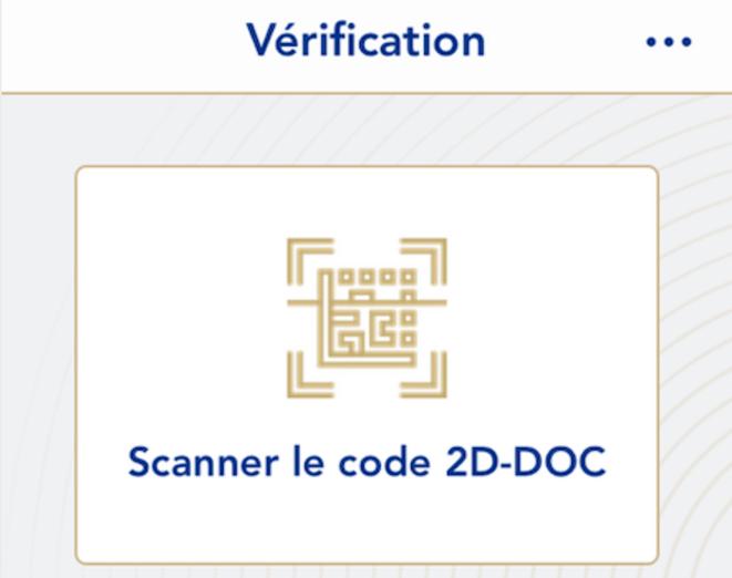 Ecran de l'application Tac Verif.