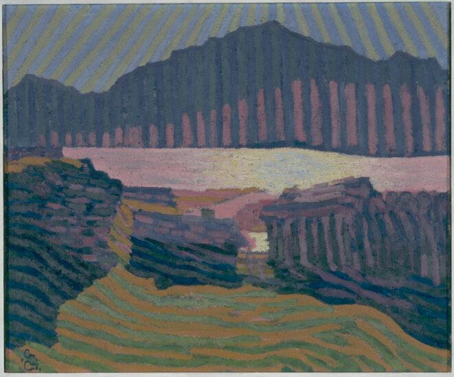 Giovanni Giacometti (1868 - 1933) Vue de Capolago Vers 1907 Huile sur toile 51,5 x 60 cm Paris, musée d'Orsay © RMN-Grand Palais (Musée d'Orsay) / Hervé Lewandowski