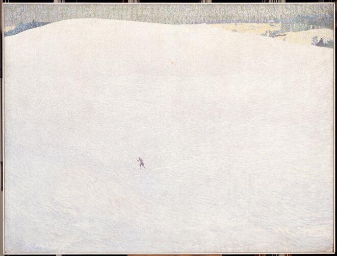 Cuno Amiet (1868-1961) Schneelandschaft (paysage de neige) dit aussi Grosser Winter (Grand hiver) 1904 Huile sur toile 178,5 cm × 236,2 cm Paris, musée d'Orsay © Photo : RMN-Grand Palais (musée d'Orsay) / Hervé Lewandowski. Artists rights D. Thalmann, Aarau, Switzerland
