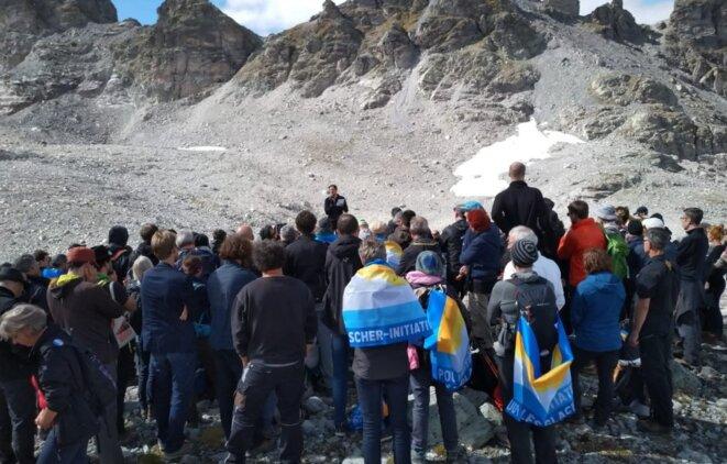 Marche pour le glacier disparu Pizol Suisse septembre 2019
