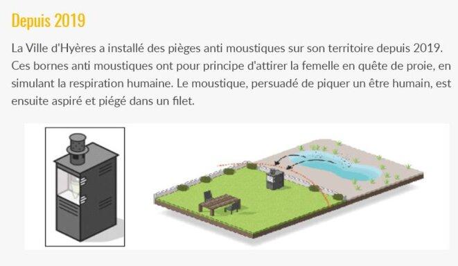 Type de piège installé par la ville de Hyères depuis 2019