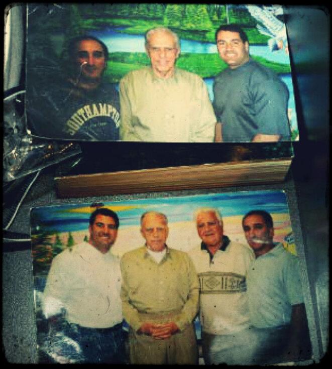 Andrew Campos (en haut à droite) avec Richard Martino et Frank Locascio, l'ancien conseiller de John Gotti, sur des photos saisies par la police. © Photos Bureau du procureur de New York