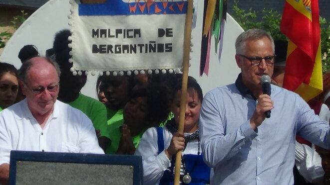 Bernard Criner et Dadou Kehl lors de la signature de la Charte pour la diversité. en 2014