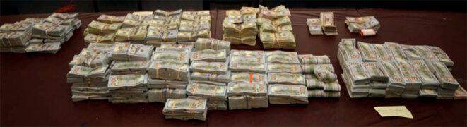 3,8 millions de dollars ont été saisis lors des perquisitions effectuéesau domicile de Vincent Esposito. © Photo DR.