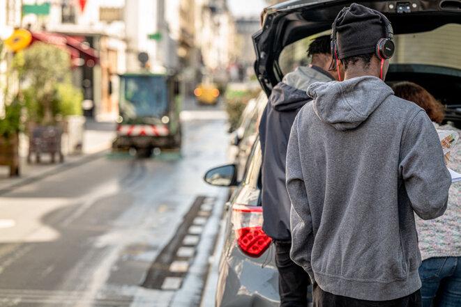 Mineurs isoles à Paris en avril 2020. © Photo Julie               Limont / Hans Lucas via AFP