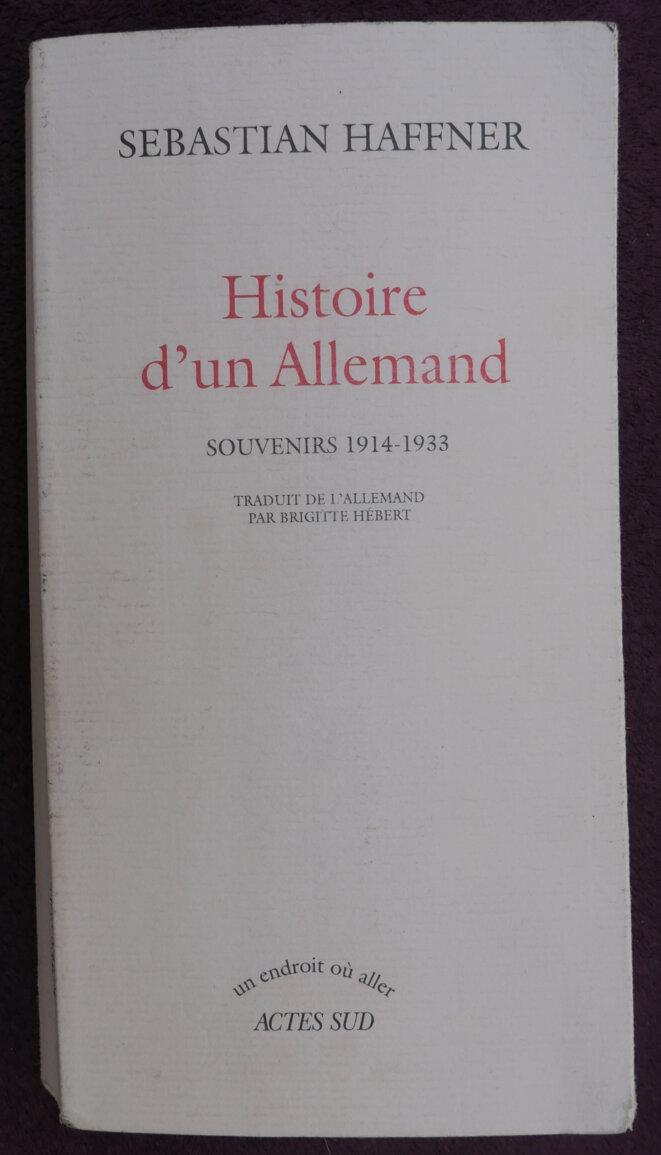 Couverture Histoire d'un allemand © moi-même