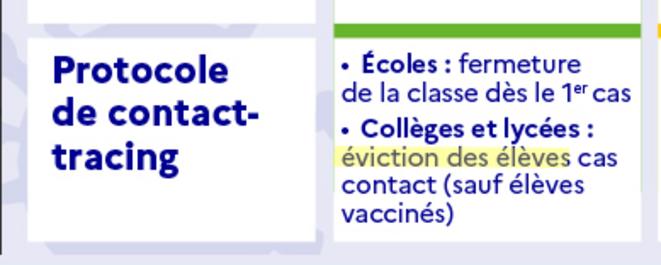 Protocole de contact tracing © education.gouv.fr