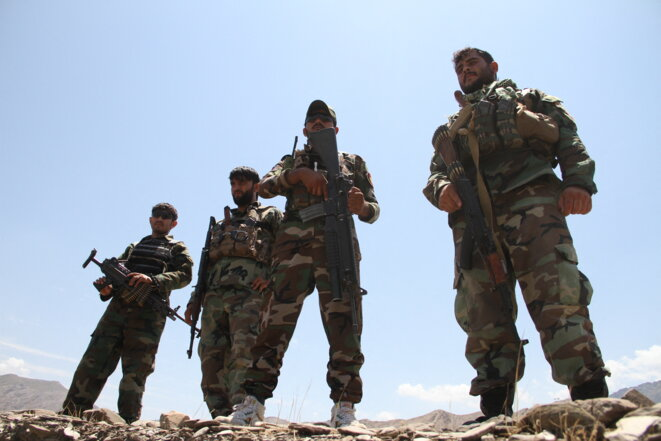 Les forces de sécurité afghanes débutent les opérations contre les talibans dans la province de Nangarhar, le 23 juillet 2021. © STRINGER / ANADOLU AGENCY / ANADOLU AGENCY VIA AFP