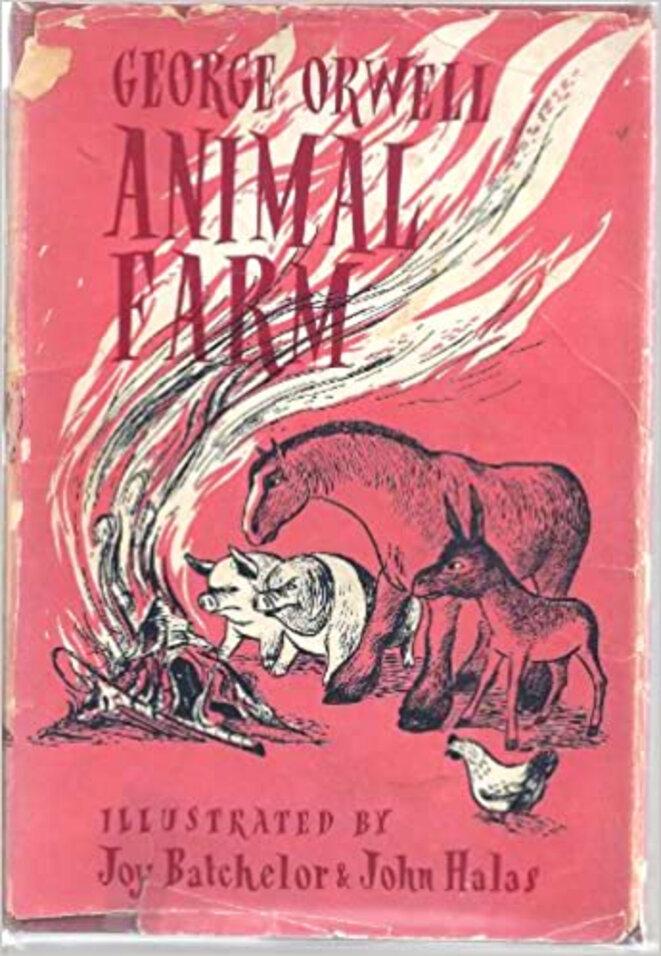 """Ancienne édition de """"La ferme des animaux"""" de G.Orwell"""