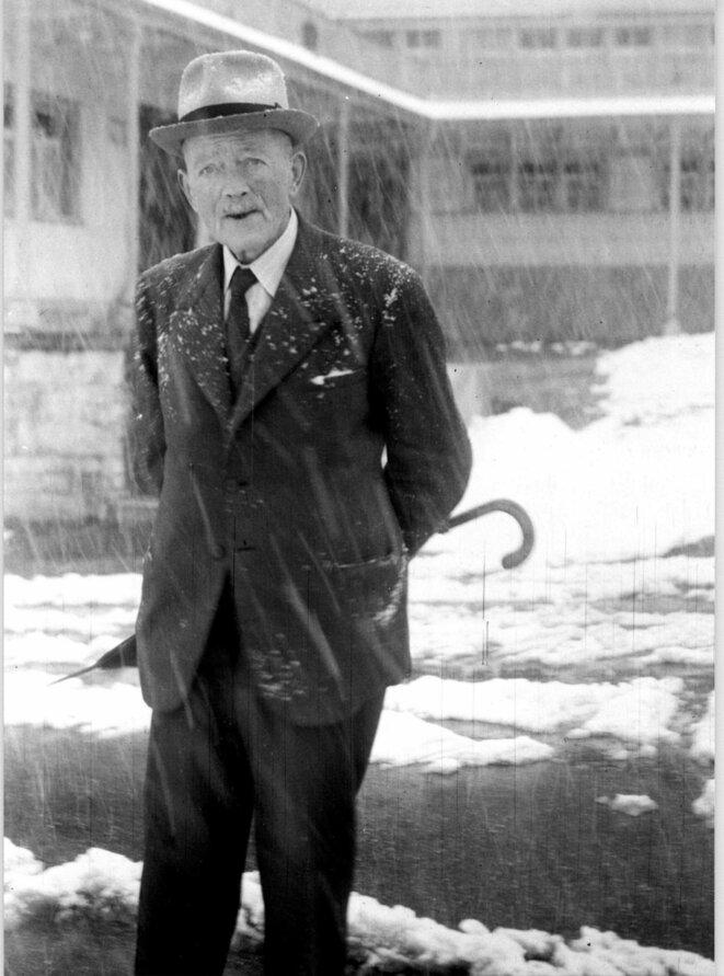 Robert Walser, photographié par Carl Seelig (1954) © Carl Seelig/Fondation Robert Walser, Berne