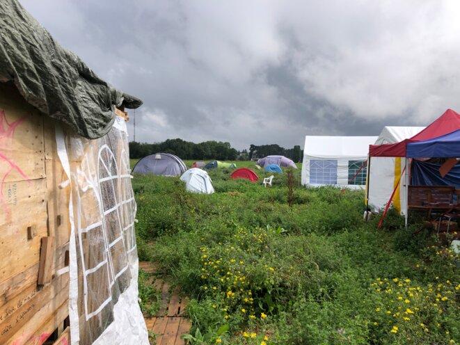 Sur le camp de «Zaclay», juillet 2021 (JL).