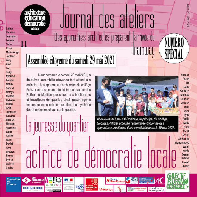Couverture du numéro 11 du Journal des ateliers © didattica