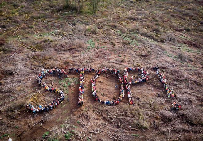 Dans le Morvan, mobilisation des citoyens pour dire STOP aux coupes rases (crédit: Jean-Luc Pillard / Canopée)