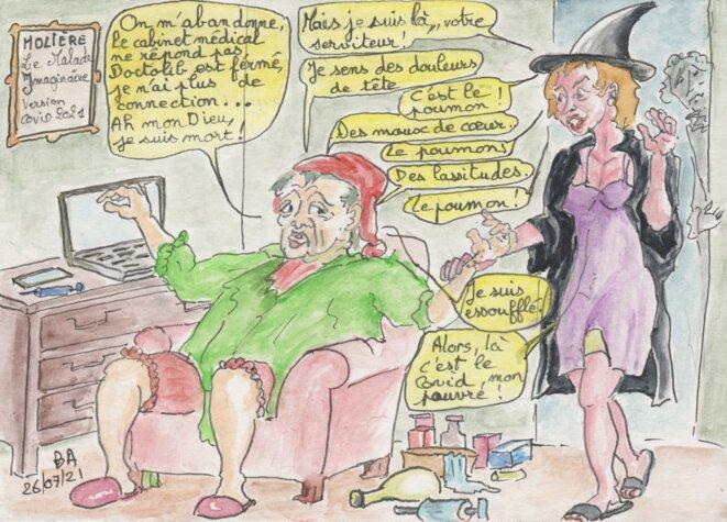 Le malade imaginaire version Covid © BA