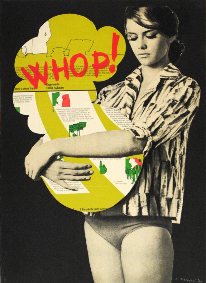 Lucia Marcucci Florence (Italie), 1933 Whop! , 1970 Technique mixte et collage sur carton 50 x 35 cm Courtesy de l'artiste et de Frittelli arte contemporanea, Florence © ADAGP, Paris 2020. Tous droits réservés