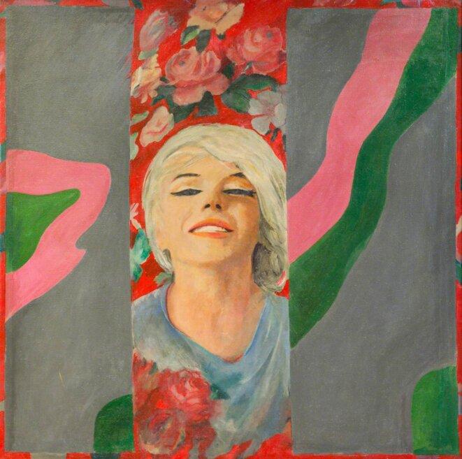 """Pauliine Boty, """"Color Her Gone"""", 1962, huile sur panneau, 121,9 x 121,9 cm © Bridgeman Images"""