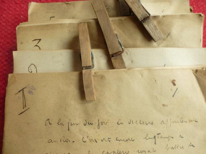 Manuscrit retrouvé de Céline. © jpt