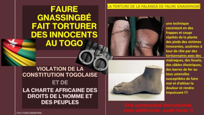 Togo, Faure Gnassingbé fait torturer des innocents