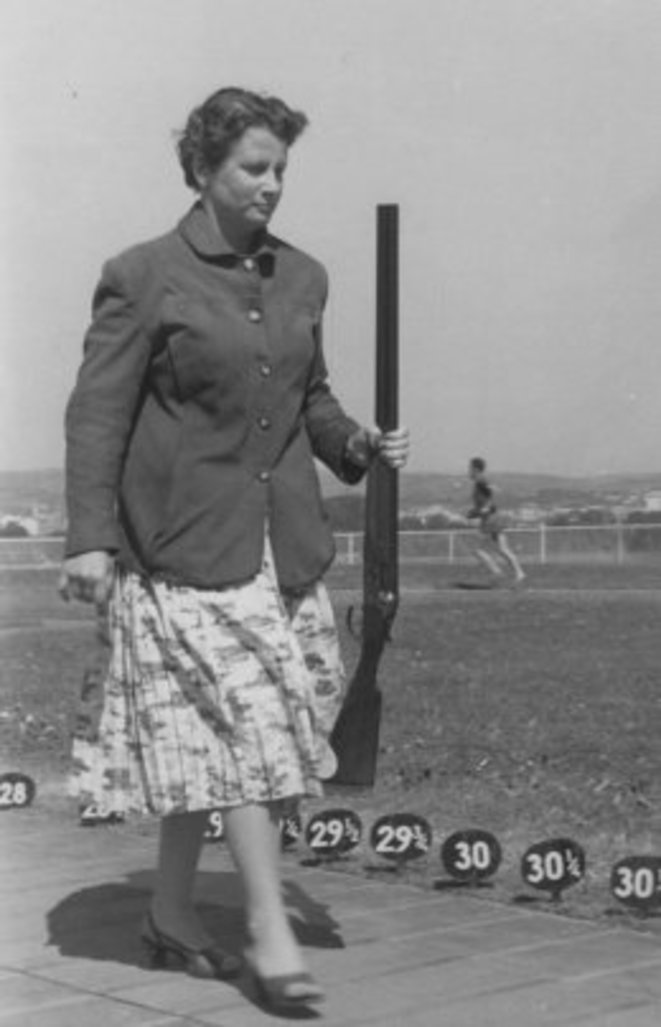 Epreuve de tir vers 1960
