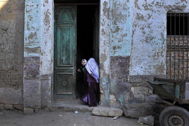 Dans le village de Sol au sud du Caire, en 2011. © Photo Aris Messinis / AFP
