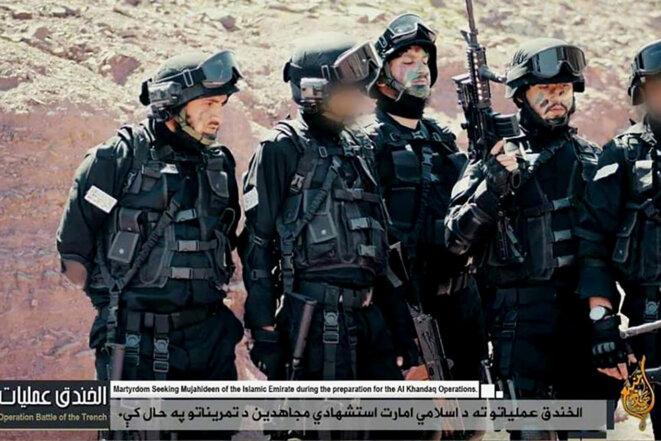 Une unité de commando Sara Khitta dans une vidéo de propagande talibane.
