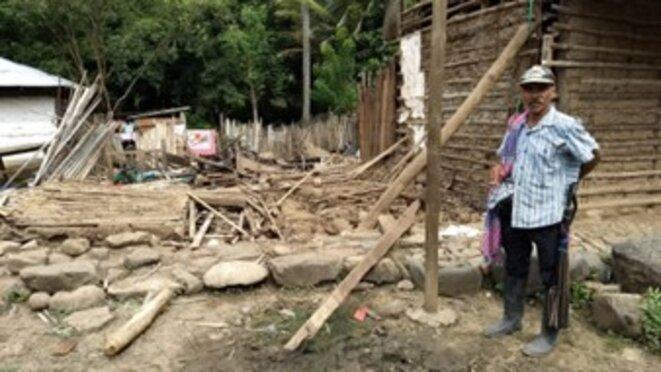 Village affecté après l'inondation de Hidroituango en 2018. Source : Movimiento Ríos Vivo