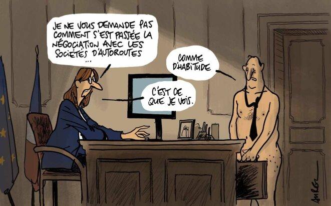"""[dessin d'Aurel paru dans """"Le Monde"""" du 20 avril 2019]."""