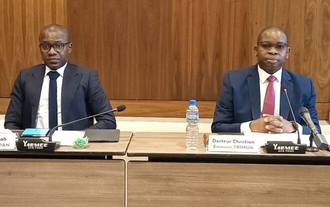 Le Chef de la Délégation du Togo, M. Christian Trimua devant le Comite des droits de l'Homme de l'ONU à Genève, lors du 5° Examen Périodique Universel du Togo