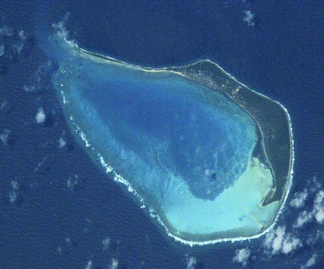 Image satellite de l'île de Minicoy © NASA