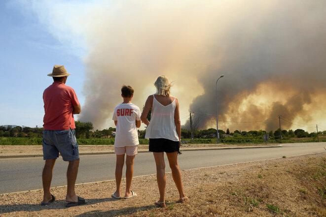 Var, le 18 août 2021. © Photo par Nicolas Tucat / AFP