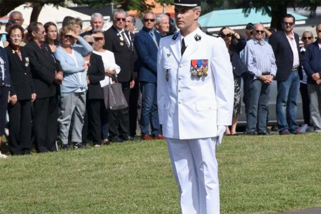 Eric Steiger lors d'une cérémonie à Nouméa, le 8 juillet 2021. © Gendarmerie nationale