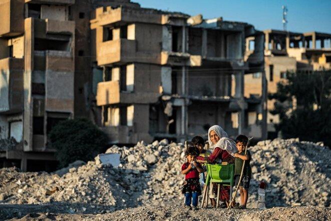 A Raqqa en Syrie, le 11 août 2021. © Photo Delil Souleiman / AFP