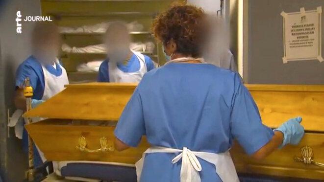 Morgue d'un hôpital aux Antilles © Pol d'après France Télévision