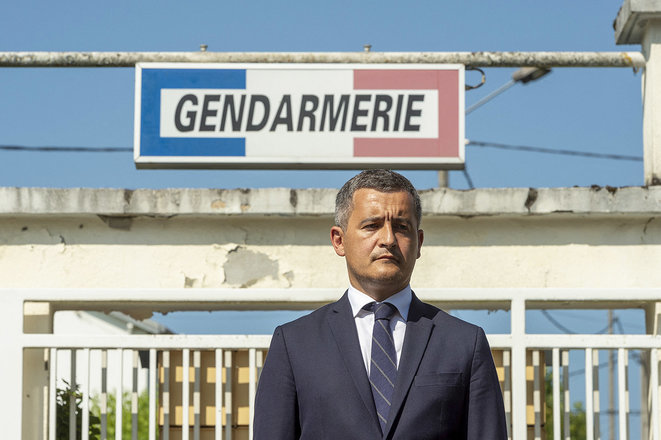 French interior minister Gérald Darmanin, July 22nd 2021. © Photo Thierry Zoccolan / AFP