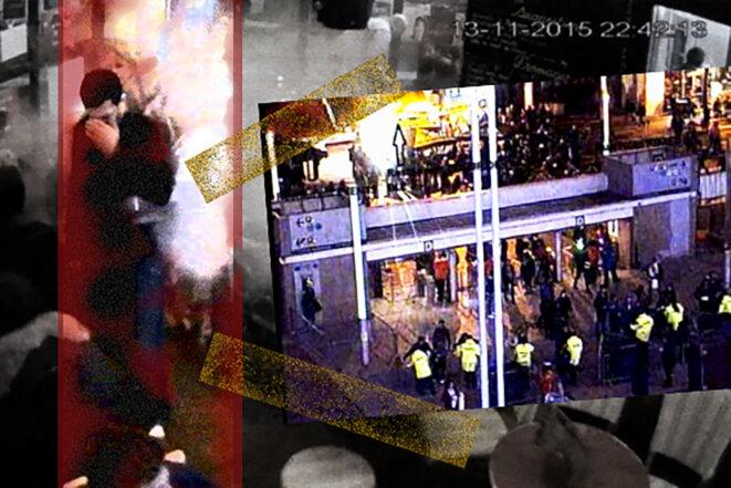 Le 13 novembre 2015, dix terroristes perpétuent le pire attentat commis en France depuis la Seconde Guerre mondiale. © Photomontage Mediapart
