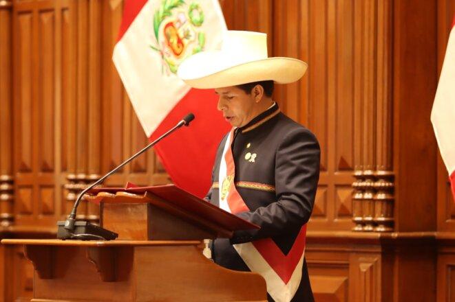 Discours présidentiel de Pedro Castillo, 28-07-2021 © Perú Libre