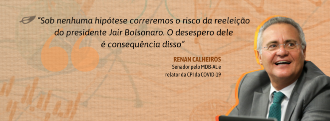 Le 23/8/21, Renan Calheiros, sénateur et actuel rapporteur de la CPI sur la gestion de la pandémie. © Abraji
