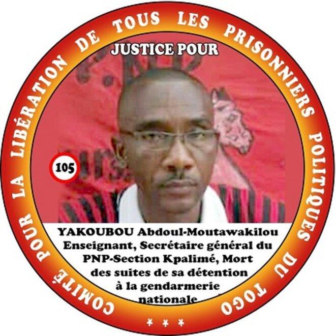 Le Secrétaire général du PNP section Kpalimé, M.  YACOUBOU Abdoul-Moutawakilou, enseignant de profession, arrêté en janvier 2020 et remis en liberté provisoire pour raison de santé en juillet 2021, a rendu l'âme cet après-midi au CHU Sylvanus Olympio de Lomé.