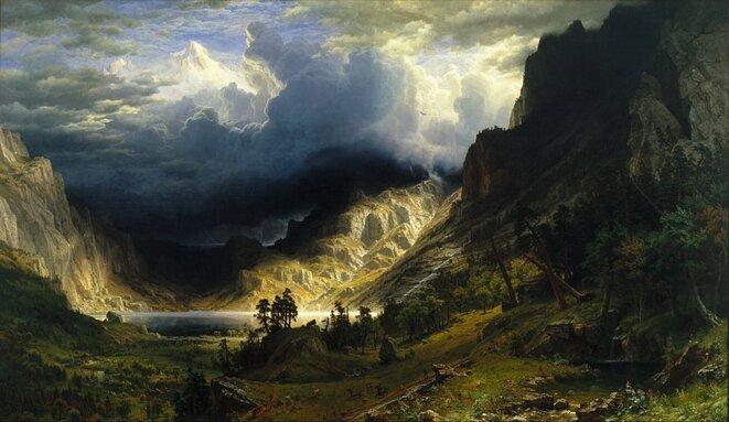 A Storm in the Rocky Mountains, Mt. Rosalie (1866) par Albert Bierstadt © Wikipédia. Institut Culturel Google