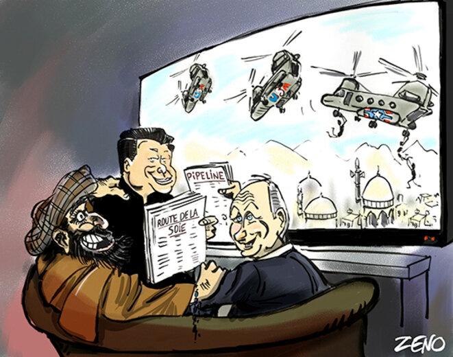 Diplomatie de la route de la soie et du Pipeline des chinois et des russes à l'égard du nouveau pouvoir Taliban © zeno