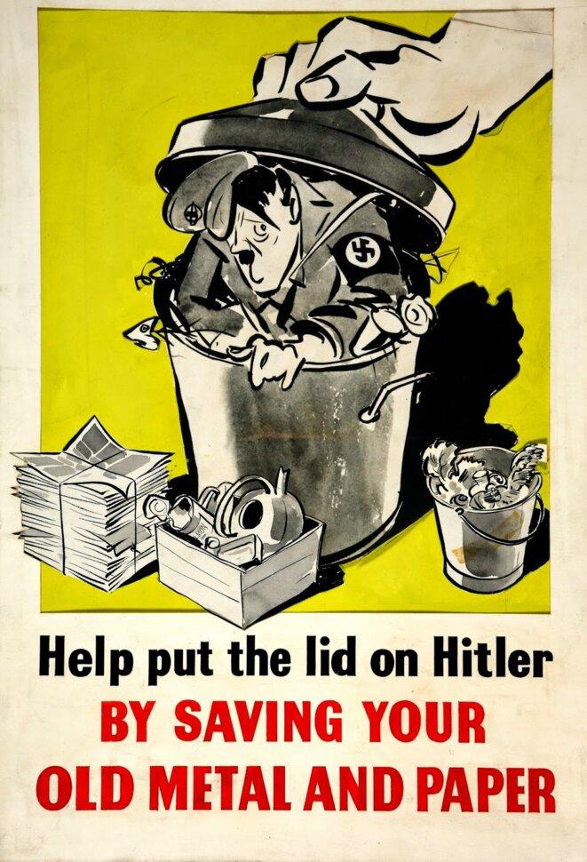 Affiche de propagande durant la seconde guerre mondiale.