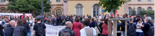Mobilisation contre l'arbitraire au Lycée Jean Macé (Rennes 35)