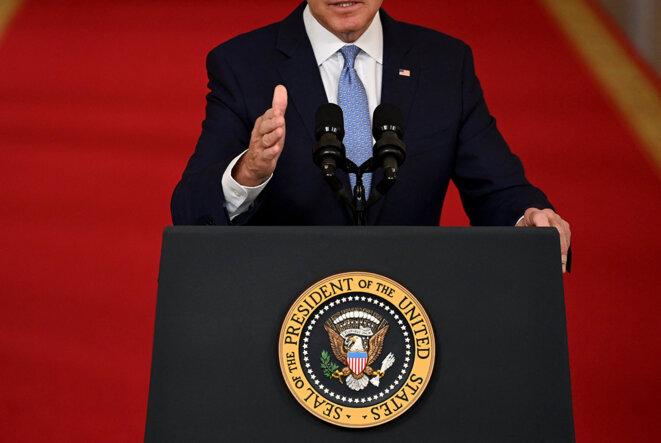 Le président américain, Joe Biden, à la Maison Blanche à Washington, le 31 août 2021. © Photo Brendan Smialowski / AFP